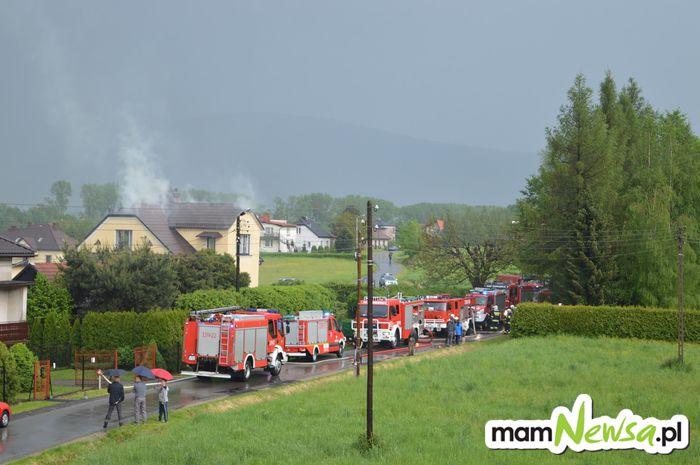 Dwa pożary w budynkach po uderzeniu pioruna