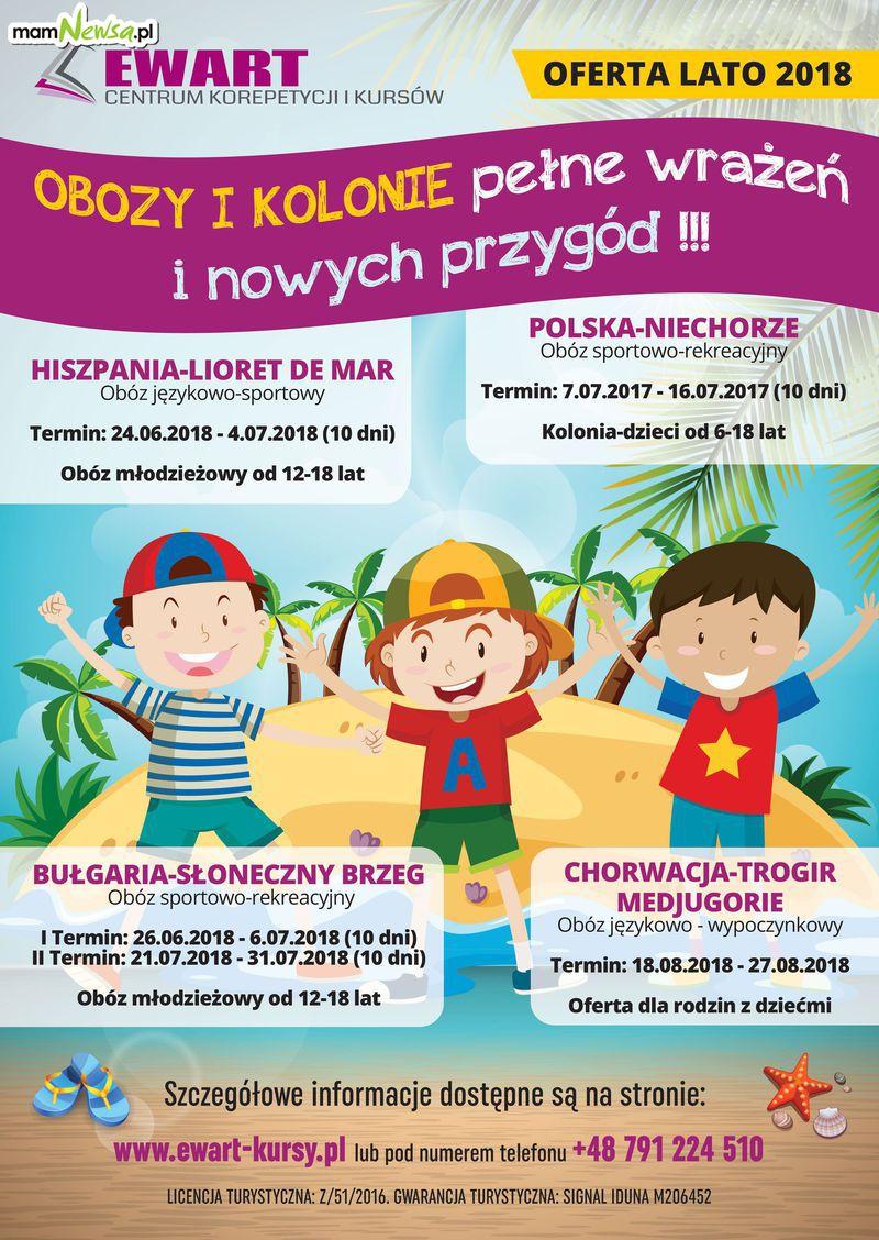 Zapisy na obozy dziecięco-młodzieżowe w Hiszpanii, Bułgarii, Polsce i w Chorwacji. Ostatnie miejsca