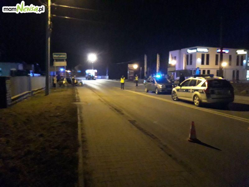 Wypadek na drodze Wadowice - Zator
