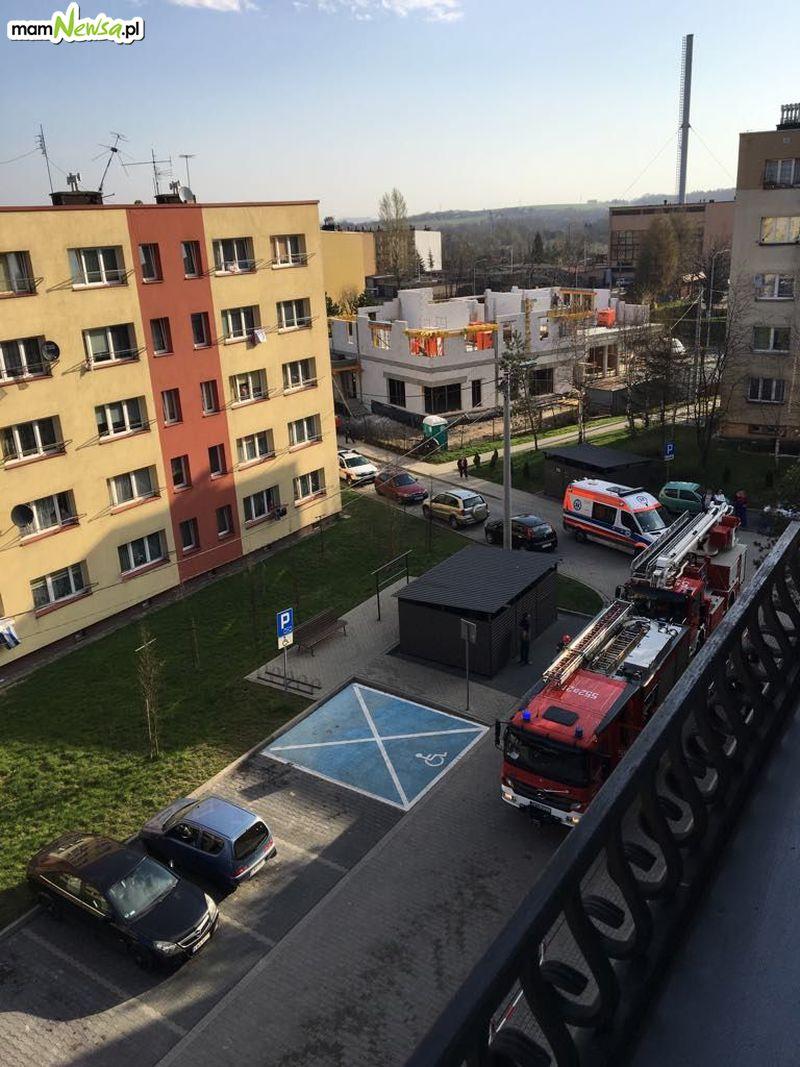 Pożar w mieszkaniu na Metalowców w Andrychowie