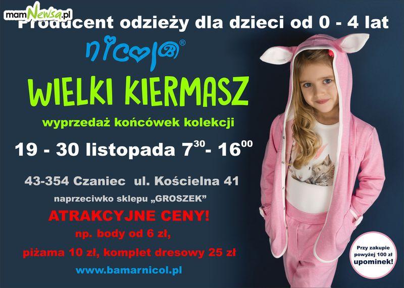 Kiermasz odzieży dla dzieci od 0-4 lat marki Nicol od 19 do 30 listopada 2018