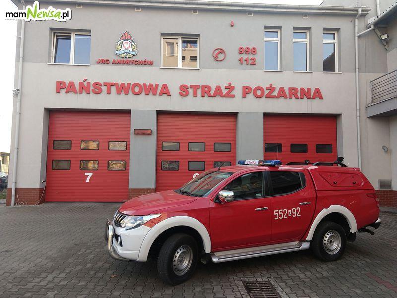 Nowy wóz na wyposażeniu andrychowskiej straży pożarnej