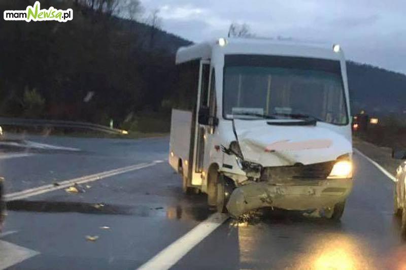 Kolejny poważny wypadek na drodze Wadowice - Sucha Beskidzka