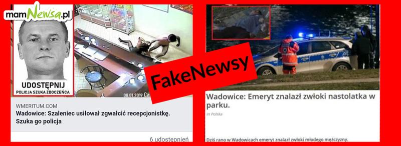 Uwaga! Internet zalewają informacje o zdarzeniach, które nie miały miejsca