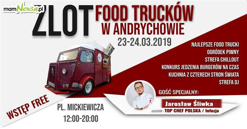 Zlot Food Trucków na placu Mickiewicza w Andrychowie