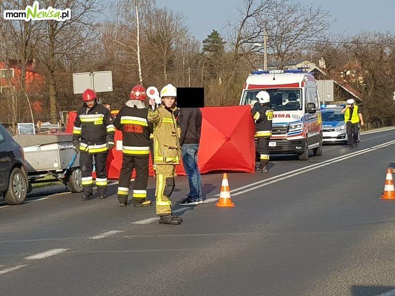 Potrącenie na drodze Andrychów - Wadowice [FOTO] [AKTUALIZACJA]