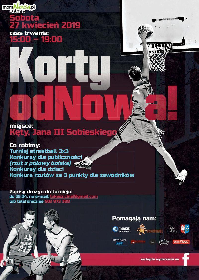 Turniej koszykarski Streetball Korty na imprezie z okazji otwarcia kortów w Kętach
