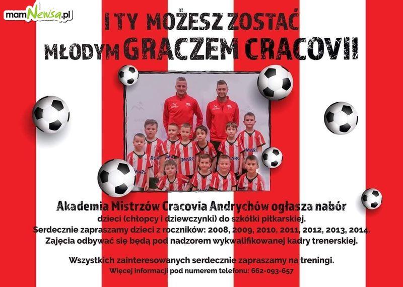 Akademia Mistrzów Cracovia Andrychów ogłasza nabór do szkółki piłkarskiej