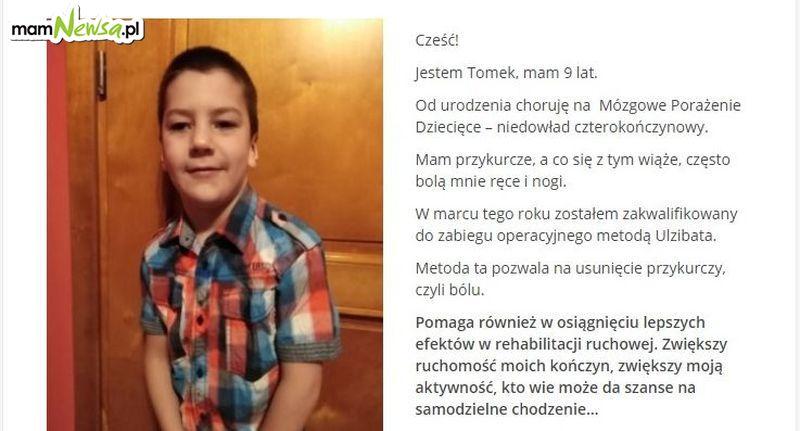 Zbiórka na operację dla ciężko chorego 9-letniego Tomka