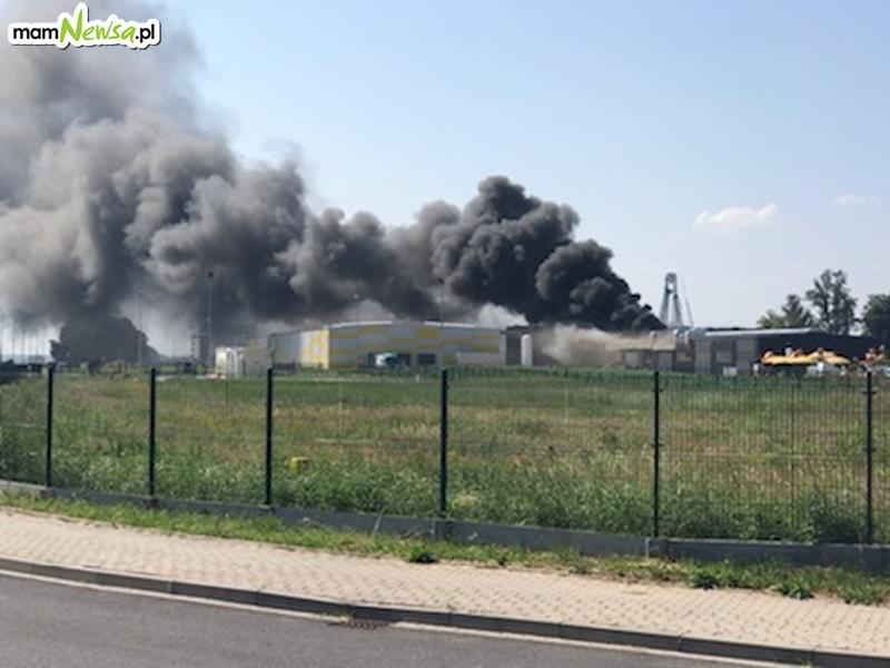 Olbrzymi pożar na terenie jednego z zakładów [FOTO] [AKTUALIZACJA]