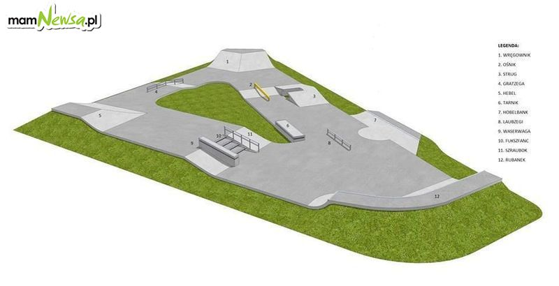 Taki skatepark wkrótce powstanie obok Orlika