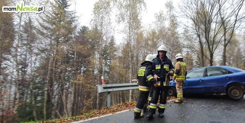 Kolejny wypadek - tym razem na drodze na Kocierz