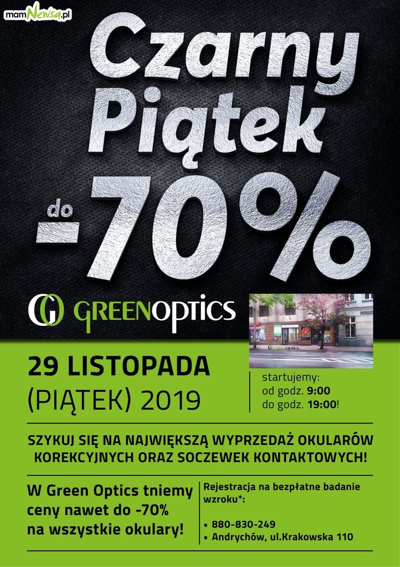 CZARNY PIĄTEK 2019 W GREEN OPTICS