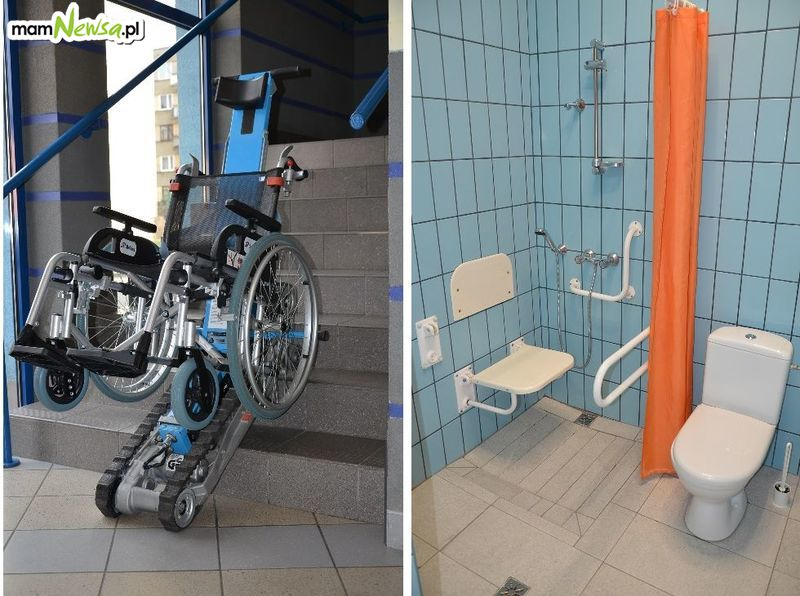 Basen bardziej przystępny dla niepełnosprawnych