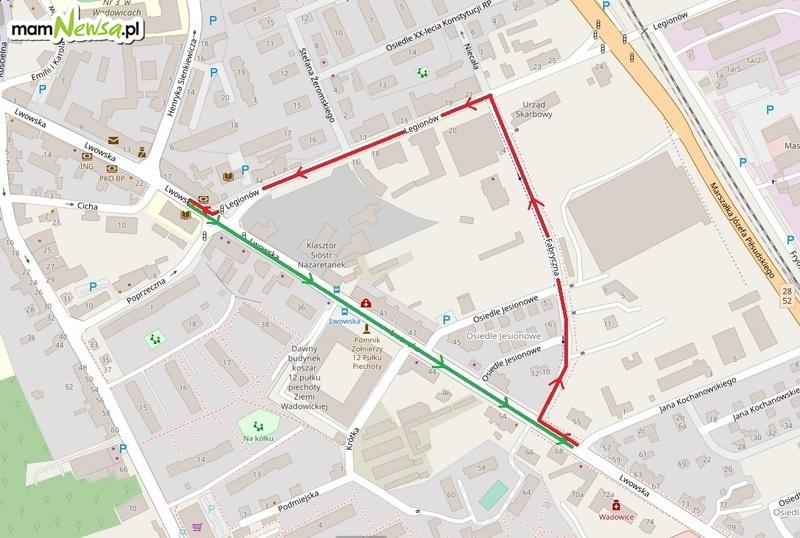 Uwaga kierowcy! Od poniedziałku zamknięta będzie główna ulica Wadowic