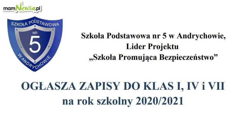 Rusza rekrutacja do Szkoły Podstawowej nr 5 w Andrychowie