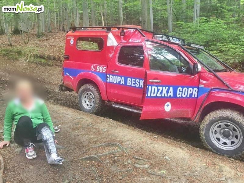Pechowa wyprawa na Leskowiec. Turystka złamała nogę i nie miał jej kto pomóc