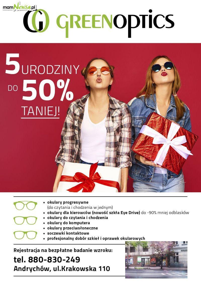 Wyjątkowe promocje na okulary z okazji 5-tych urodzin Green Optics