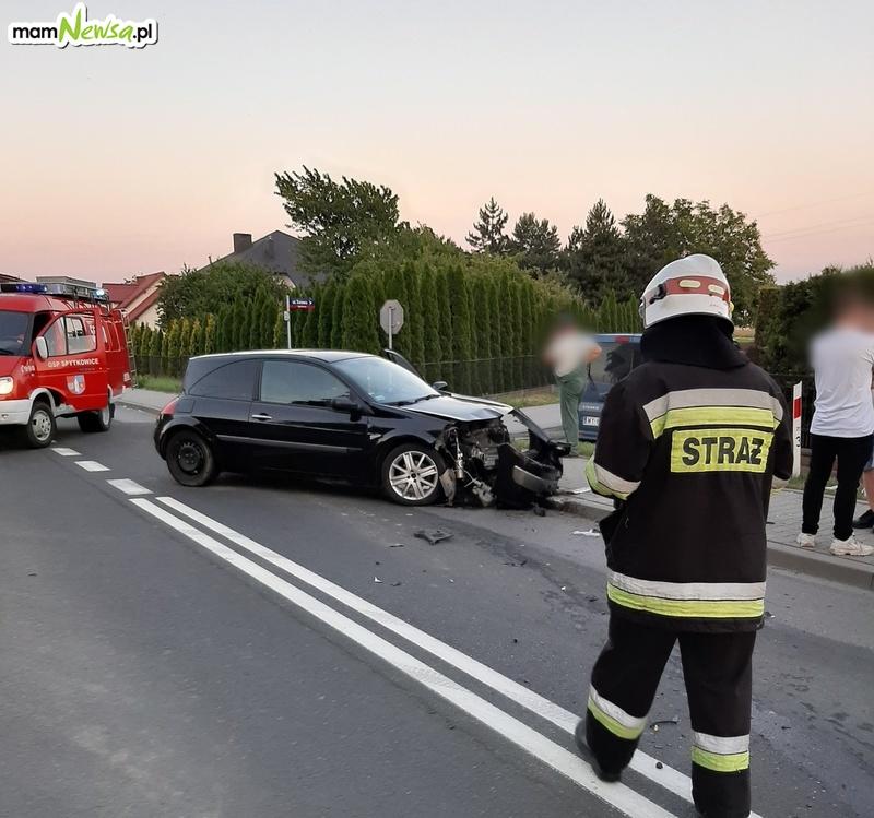 Zderzenie czterech samochodów na krajówce