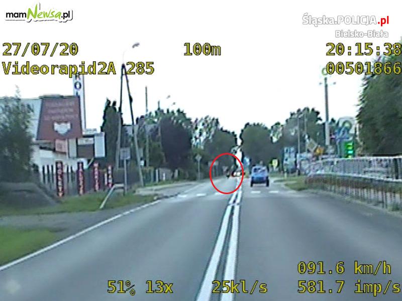 Policyjny pościg za motocyklistą, który nie zatrzymał się do kontroli drogowej