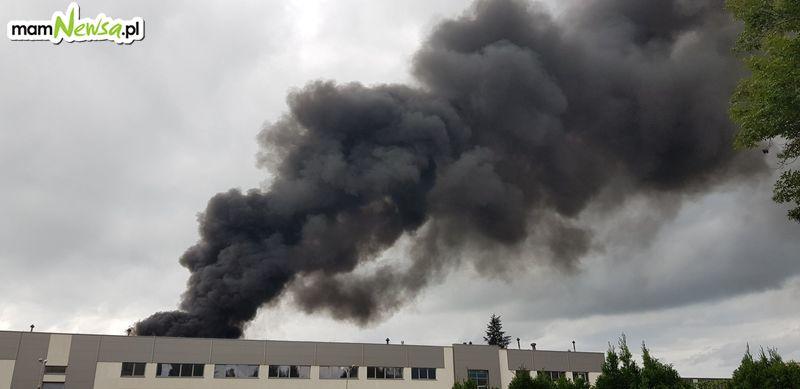 Pożar zakładu w Andrychowie [FOTO]