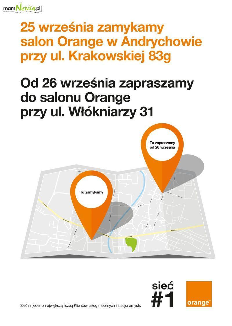 Salon ORANGE w Andrychowie. Ważny komunikat