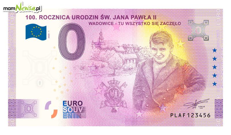 Banknot euro z wadowickim akcentem trafi do sprzedaży