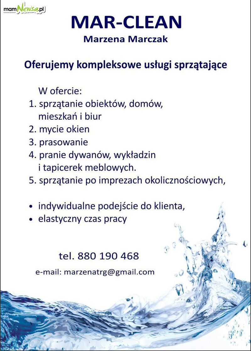 MAR-CLEAN. Kompleksowe usługi sprzątające