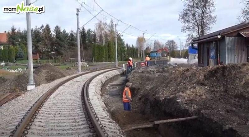 Trwa remont linii kolejowej Andrychów - Wadowice [VIDEO]