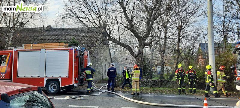 Pożar budynku w Kętach [FOTO] [AKTUALIZACJA]