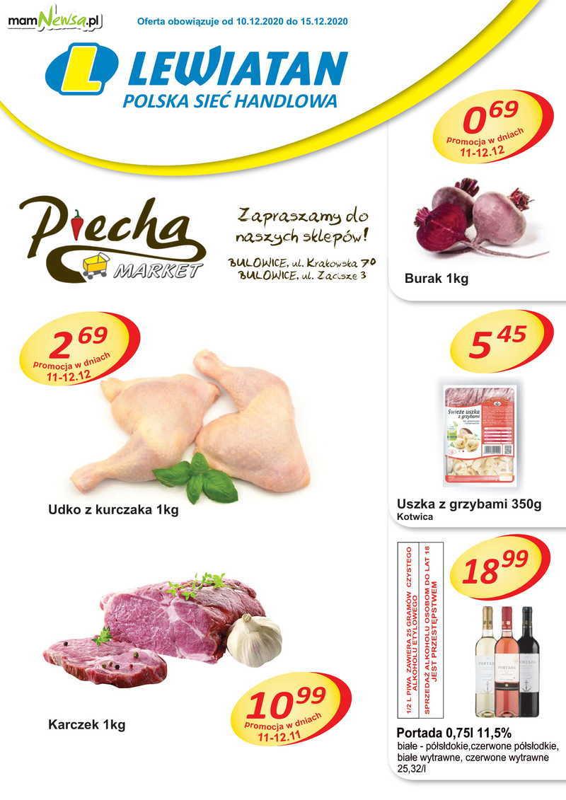 Markety Piecha Lewiatan Bulowice. Nowa gazetka. 10-15 grudnia