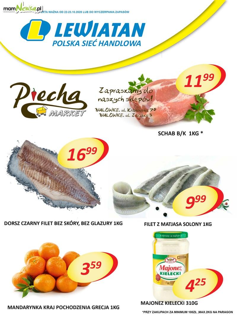 Markety Piecha Lewiatan w Bulowicach. Promocje w dniach 18-19 grudnia 2020r.
