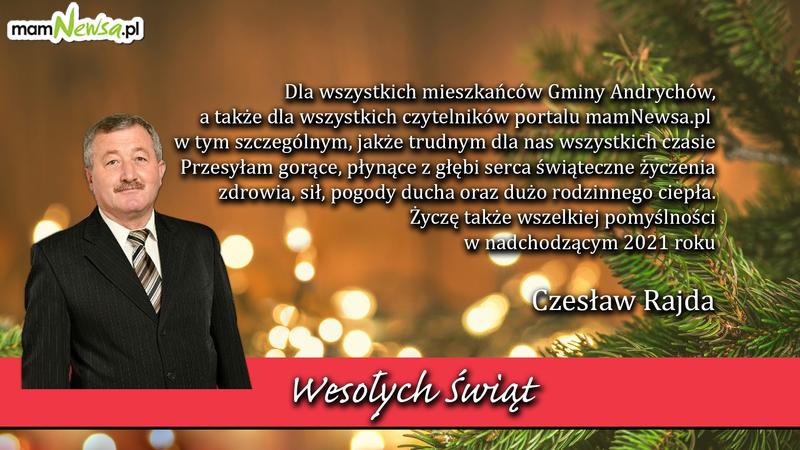 Życzenia od Czesława Rajdy, radnego Rady Miejskiej w Andrychowie
