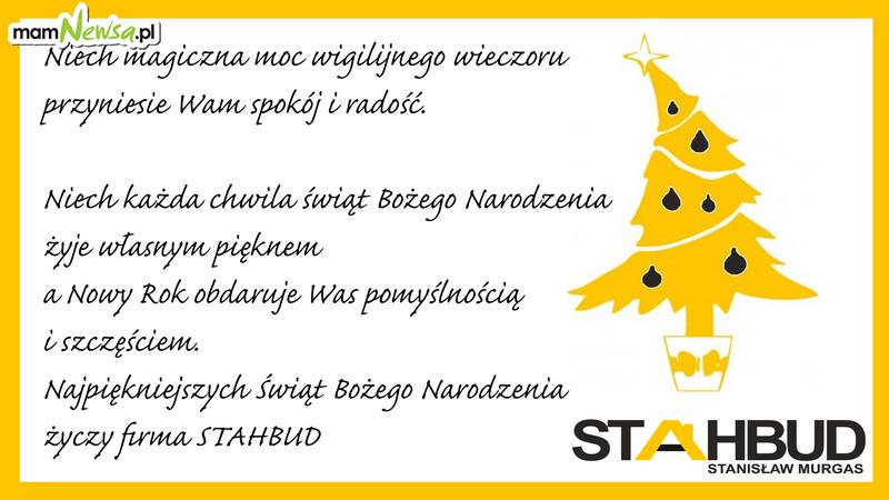 Życzenia od firmy Stahbud