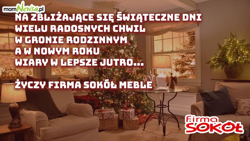 Życzenia świąteczne od firmy Sokół Meble z Andrychowa