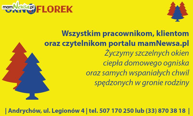 Życzenia świąteczne od firmy Okno Florek