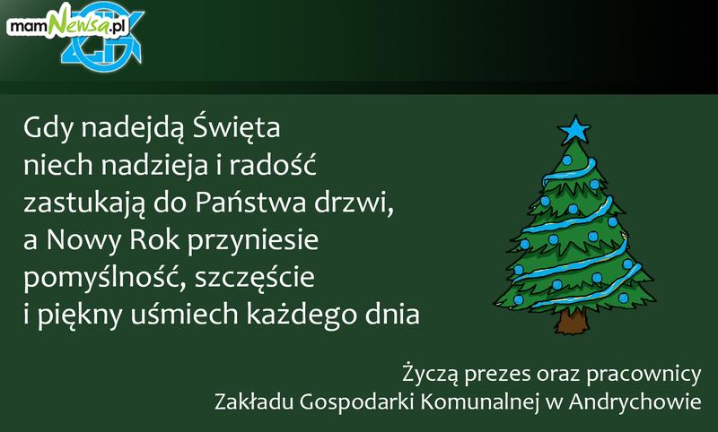 Życzenia od kierownictwa i pracowników Zakładu Gospodarki Komunalnej w Andrychowie