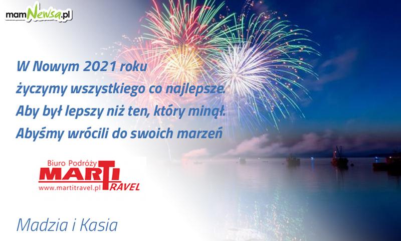 Życzenia noworoczne od biura podróży Marti Travel z Andrychowa