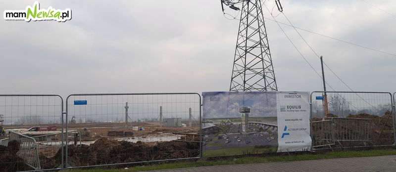 Kierowcy powinni uważać w okolicach budowy galerii w Andrychowie