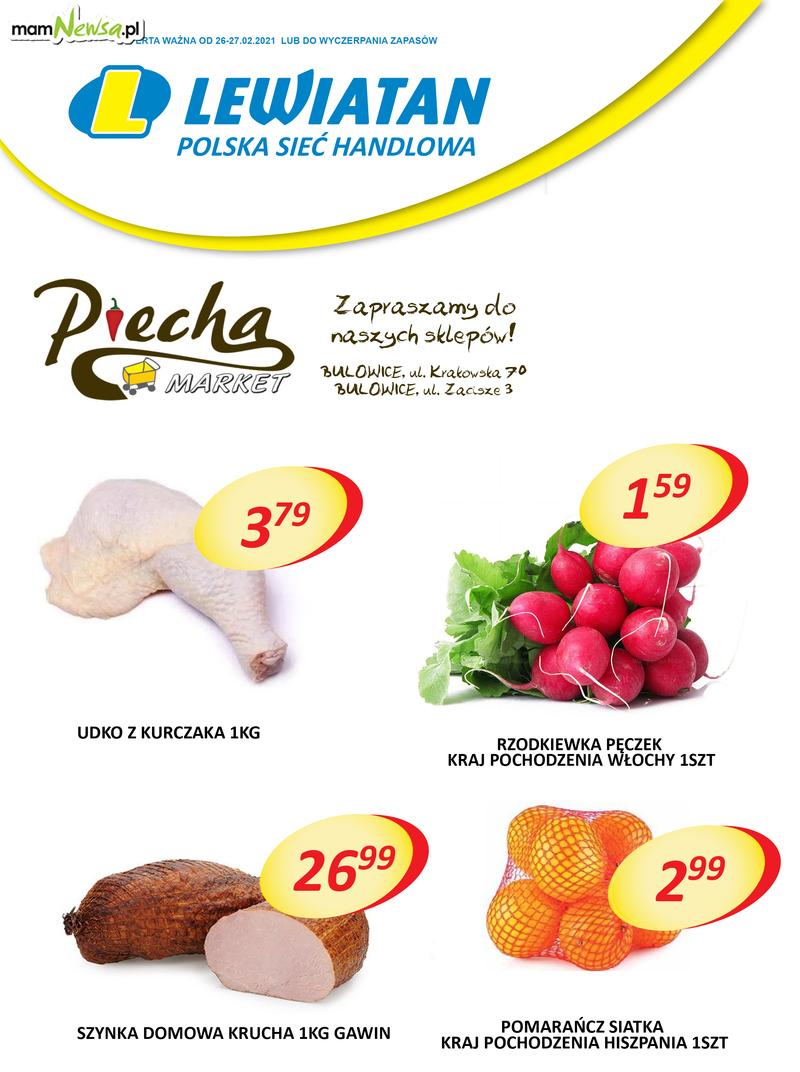 Lewiatan Piecha Market w Bulowicach. Promocje 26-27 lutego