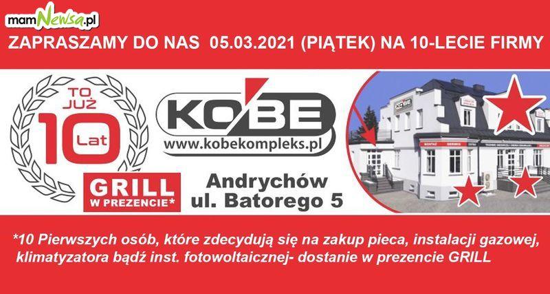 Firma KOBE obchodzi JUBILEUSZ!