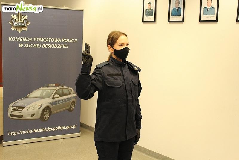 Nowa policjantka w mundurze