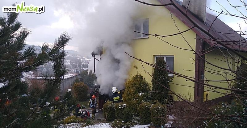 Pożar domu. Słychać było wybuch [AKTUALIZACJA]