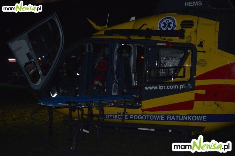 Śmigłowiec LPR w nocnej akcji w gminie Andrychów