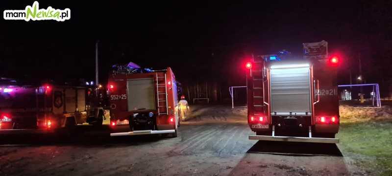 LPR po pacjenta w Bulowicach, strażacy zabezpieczali dwa lądowiska