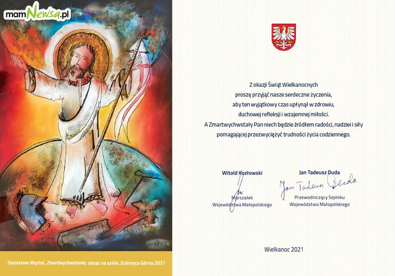 List i świąteczne życzenia marszałka Witolda Kozłowskiego dla Mieszkańców Małopolski