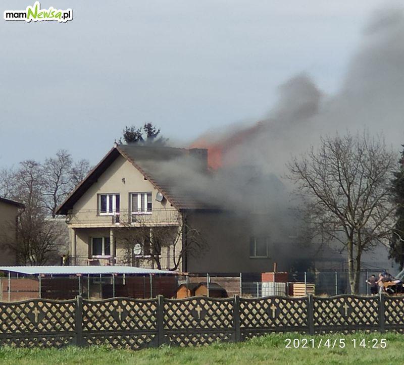 Pożar domu w świąteczne popołudnie