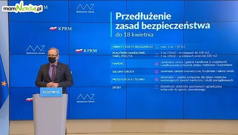Do 18 kwietnia rząd przedłuża obostrzenia