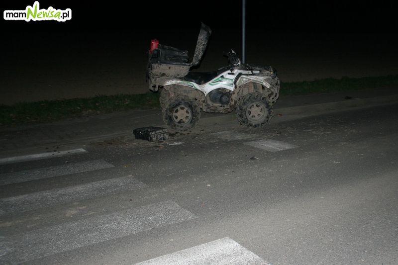 Wypadek na quadzie i potrącenie pieszej [FOTO]