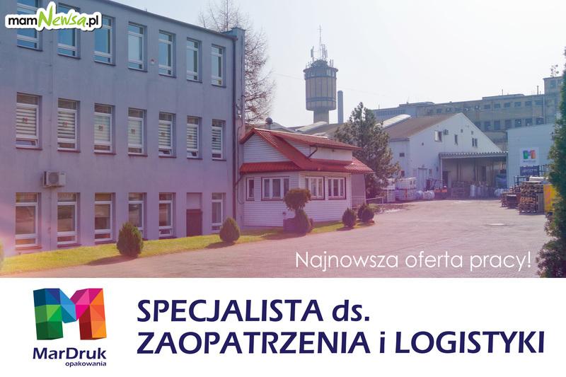 Oferta pracy z firmy MarDruk Opakowania: SPECJALISTA DS. ZAOPATRZENIA I LOGISTYKI
